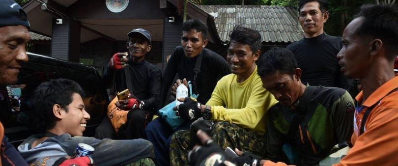 trabalho em equipe na Tailândia